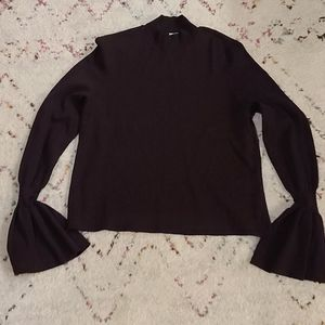 H&M purple sweater with bell sleeves